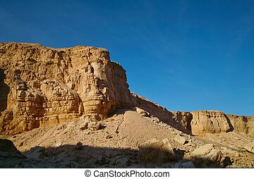 Sandstone rocks in the desert