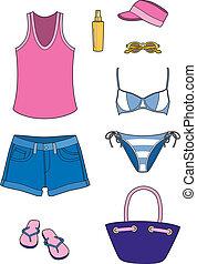 sandstrand, accessoirs