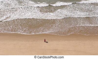 sandstrand,  -,  Algarve,  falesia, Oben