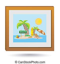 sandstrand, bild