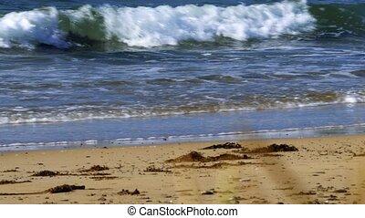 sandstrand, eingestuft, schottland, castletown, -, version