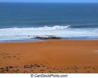sandstrand, gewaltig