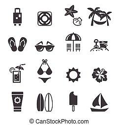 sandstrand, ikone