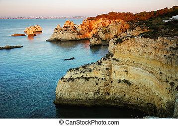 sandstrand, in, portugal