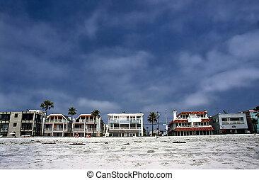 sandstrand, kalifornien, pazifik