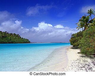 sandstrand, lagune