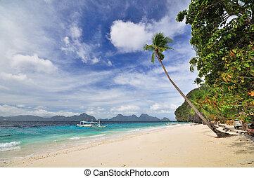 sandstrand, landschaftsbild, paradies