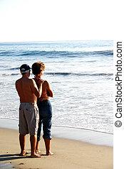 sandstrand, liebe