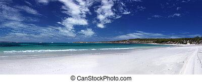 sandstrand, panoramisch