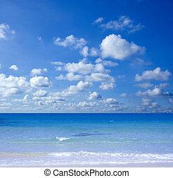 sandstrand, prächtig