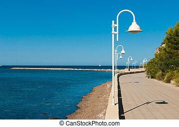 sandstrand, promenade