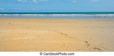 sandstrand, sandig