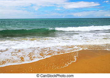 sandstrand, sandig, wasserlandschaft