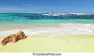 sandstrand, schleife, wasserlandschaft