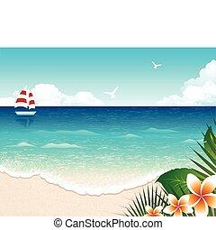 sandstrand, sommer