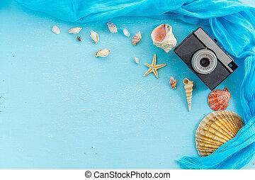 sandstrand, sommer urlaub, reise, accessoirs