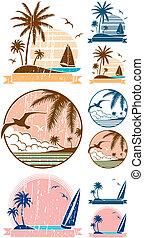 sandstrand, symbole