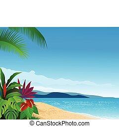 sandstrand, tropische