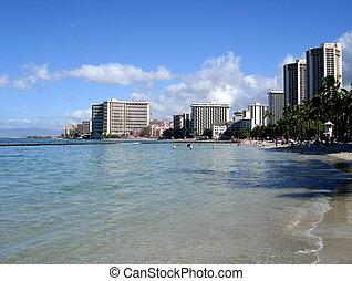 sandstrand, waikiki, hawaii