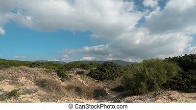 sandstrand, wolkenhimmel, FEHLER, Andalusien, Zeit, Schwenken,  tarifa, Spanien