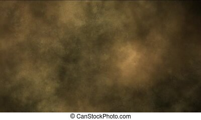 sandsturm, rauchwolken, night.