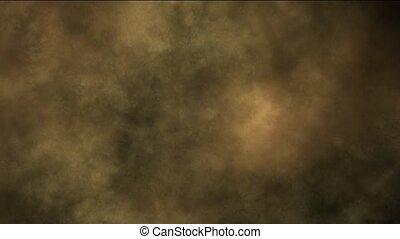 sandsturm, und, rauchwolken, an, night.