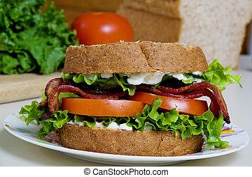 sanduíche, blt
