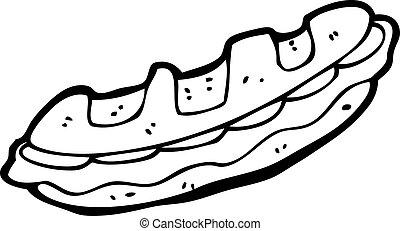 sanduíche, caricatura