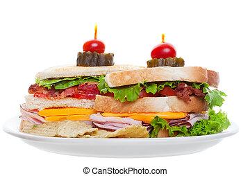 sanduíche clube