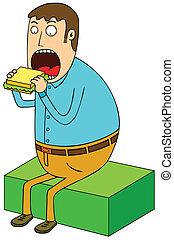 sanduíche, comer