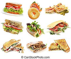 sanduíches, cobrança
