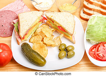 Sandwich and Ingredients