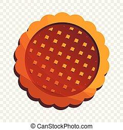 Sandwich biscuit icon, cartoon style