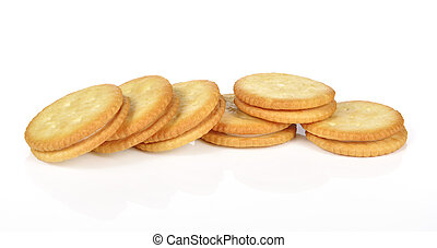 Sandwich biscuits on a white background