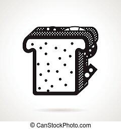 Sandwich black vector icon