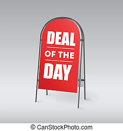 Sandwich board, Deal of the day