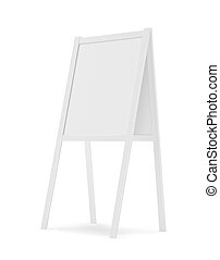 Sandwich board isolated on white - 3d illustration rendering