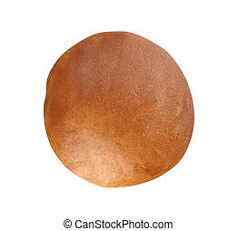 sandwich bun isolated on white background