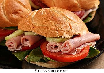 sandwich close up fast food