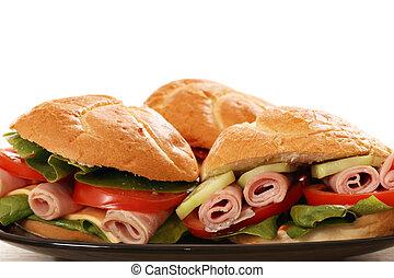 sandwich close up food background