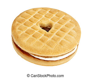 Sandwich cookie on a white background