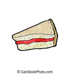 sandwich, dessin animé