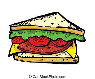sandwich, doodle