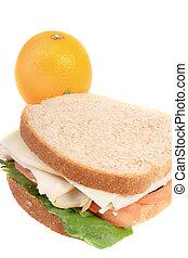 sandwich, et, orange