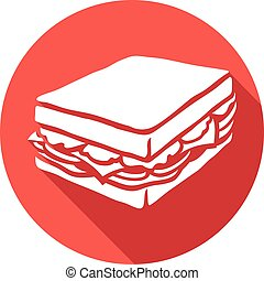 sandwich flat icon