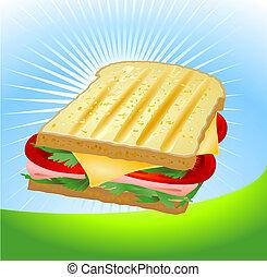 sandwich fromage, jambon