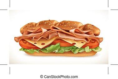 sandwich fromage, viande