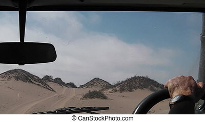 Sandwich Harbour Namibia - Off-road POV driving on dunes and...