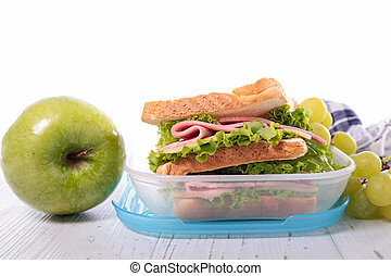 sandwich, healthy lunch box