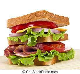 sandwich isolated on a white background